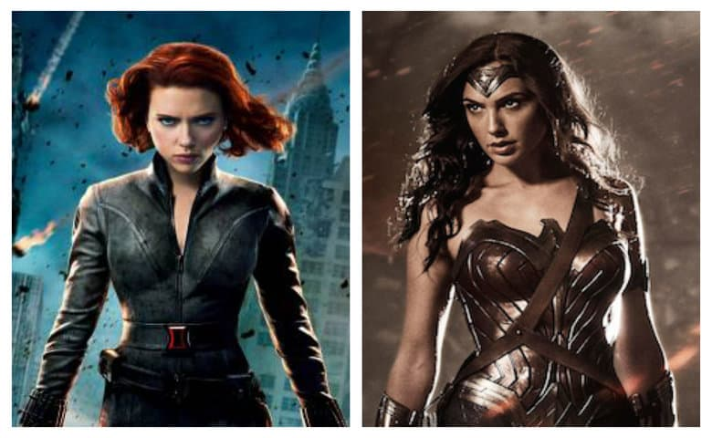 Marvel Black Widow DC Wonder Woman