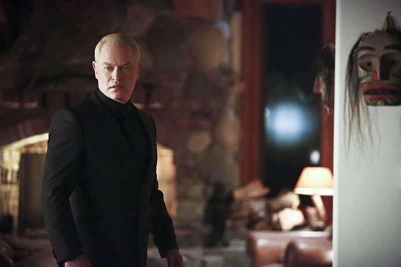 """Arrow -- """"Taken"""" -- Image AR415A_0018b.jpg -- Pictured: Neal McDonough as Damien Darhk -- Photo: Bettina Strauss/ The CW -- © 2016 The CW Network, LLC. All Rights Reserved."""