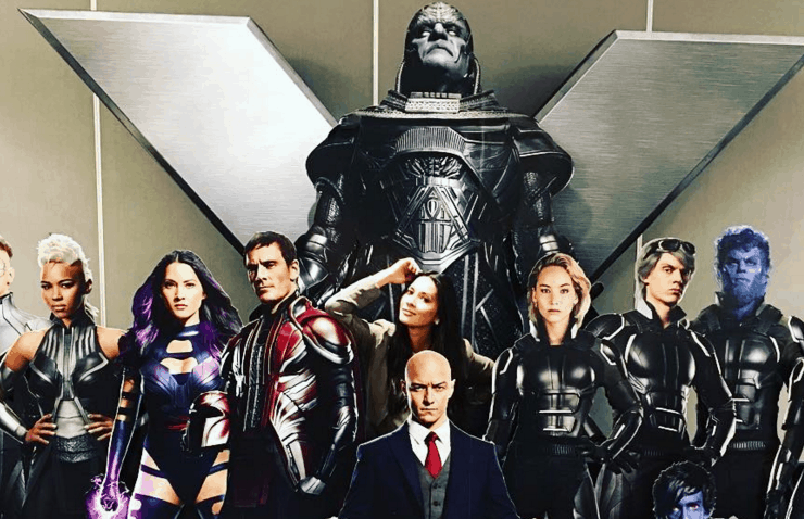 new shots of the cast featured in x men apocalypse theater