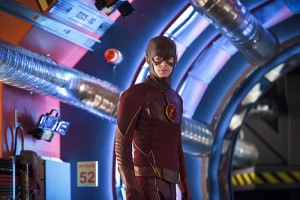 "The Flash -- ""Flash Back"" -- Image: FLA217b_0300b.jpg -- Pictured: Grant Gustin as The Flash -- Photo: Diyah Pera/The CW -- © 2016 The CW Network, LLC. All rights reserved."