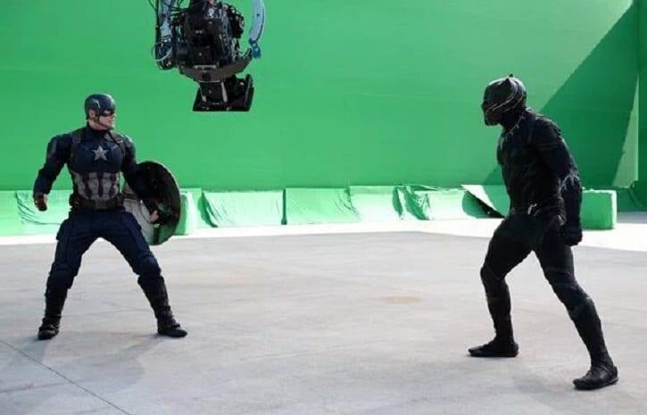 Black Panther vs Cap BTS