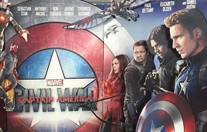 Captain America CW Standee Header