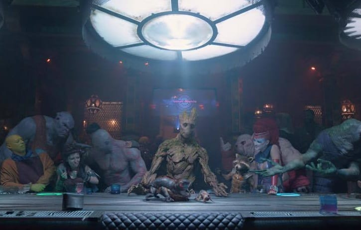 Guardians Groot's Last Supper