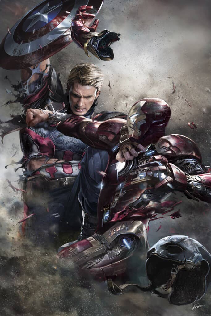 Captain America vs Iron Man Concept