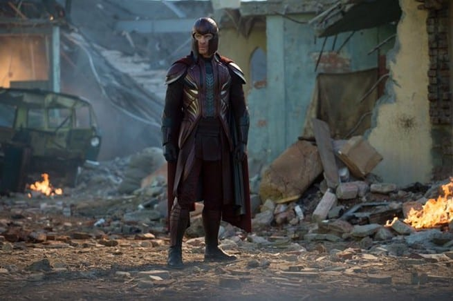 Magneto played by Michael Fassbender