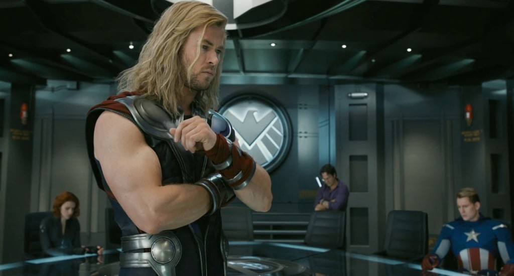 Thor_in_the_Avengers_meeting