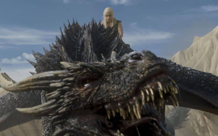 Game of Thrones Daenerys Targaryen Drogon HBO