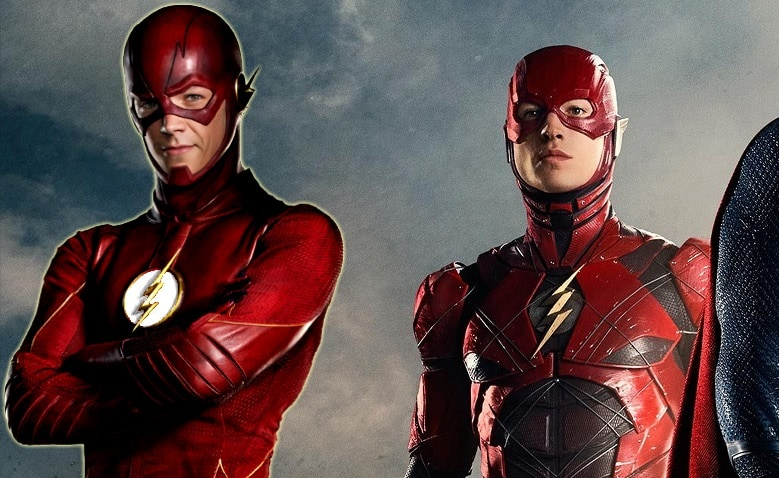 The Flash Ezra Miller and Grant Gustin banner