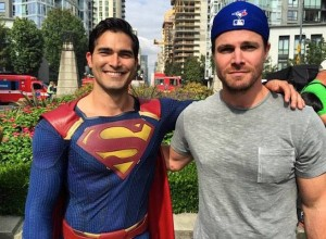 Steve Amell and Superman