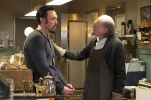 "THE STRAIN -- ""Collaborators"" -- Episode 307 -- (Airs Sunday, October 9, 10:00 pm e/p) Pictured: (l-r) Kevin Durand as Vasily Fet, David Bradley as Abraham Setrakian. CR: Michael Gibson/FX"