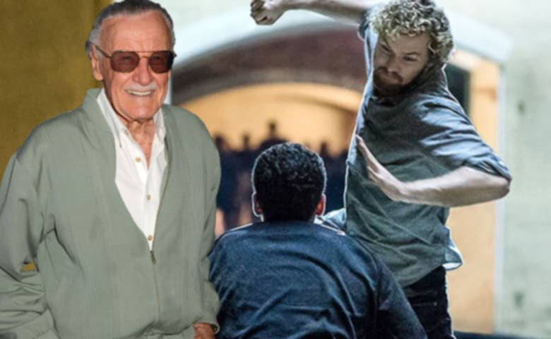 39 iron fist 39 star finn jones caps off nycc by meeting stan lee. Black Bedroom Furniture Sets. Home Design Ideas