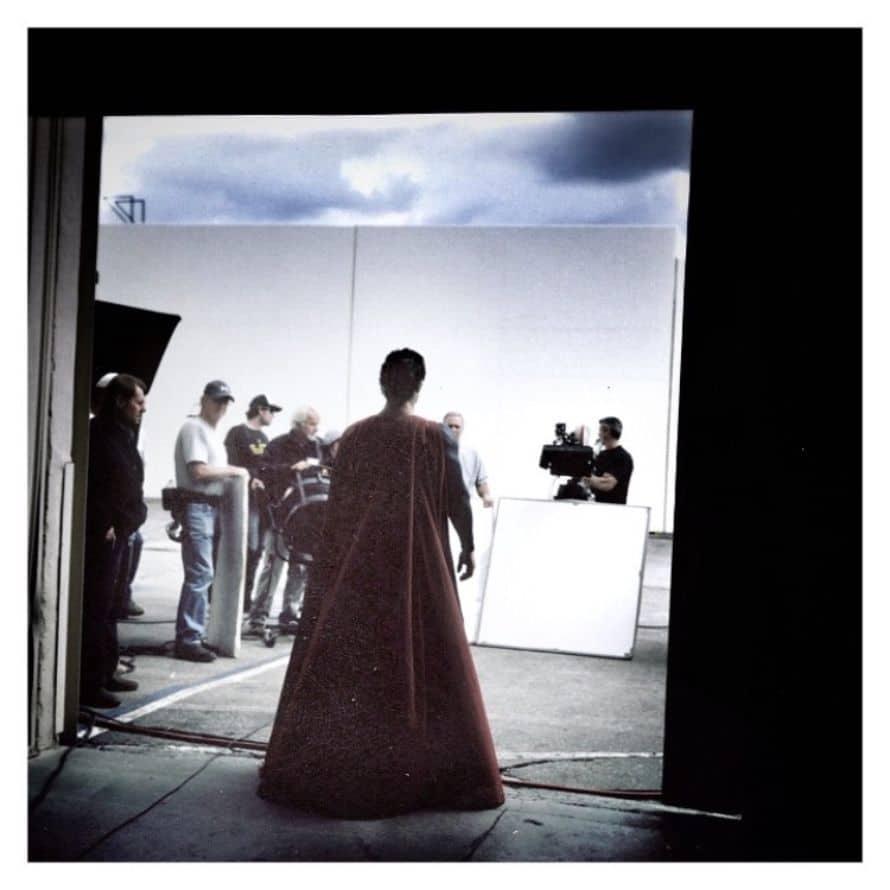 Zack Snyder Henry Cavill Superman Costume Test