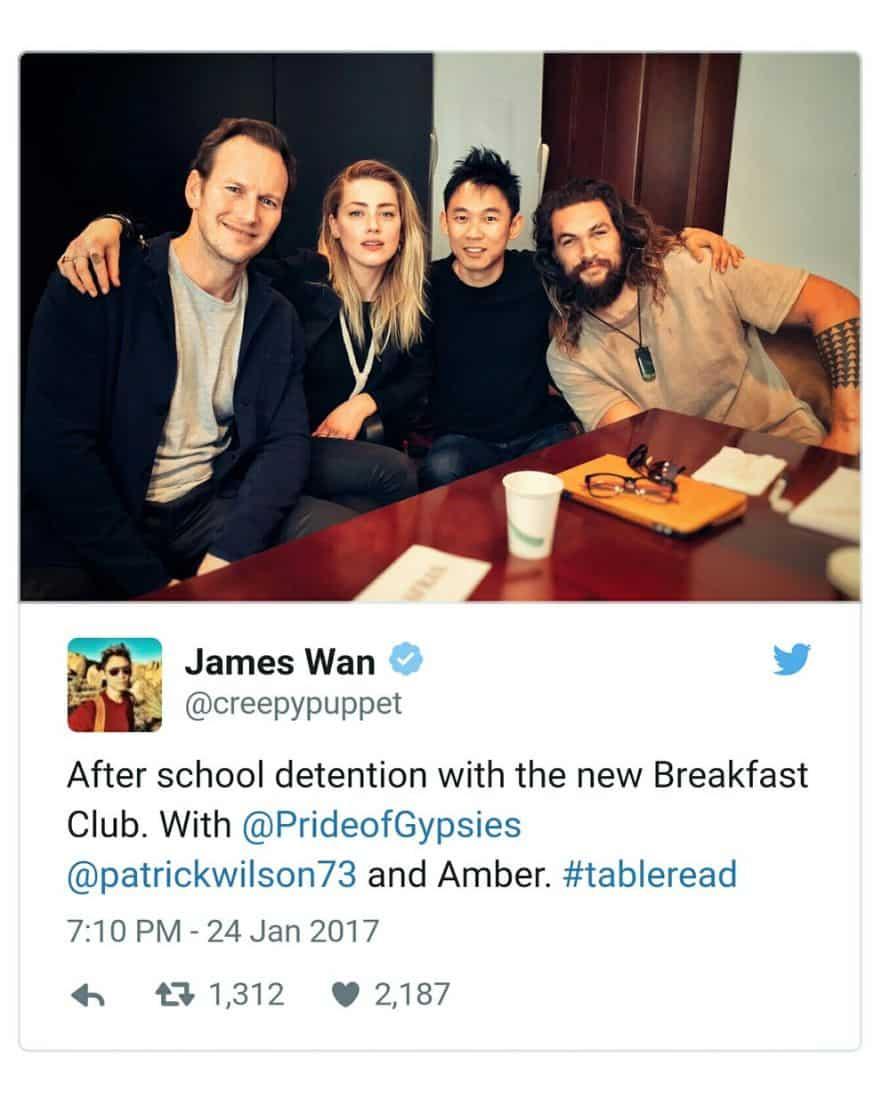 James Wan Aquaman Patrick Wilson Amber Heard Jason Momoa Photo