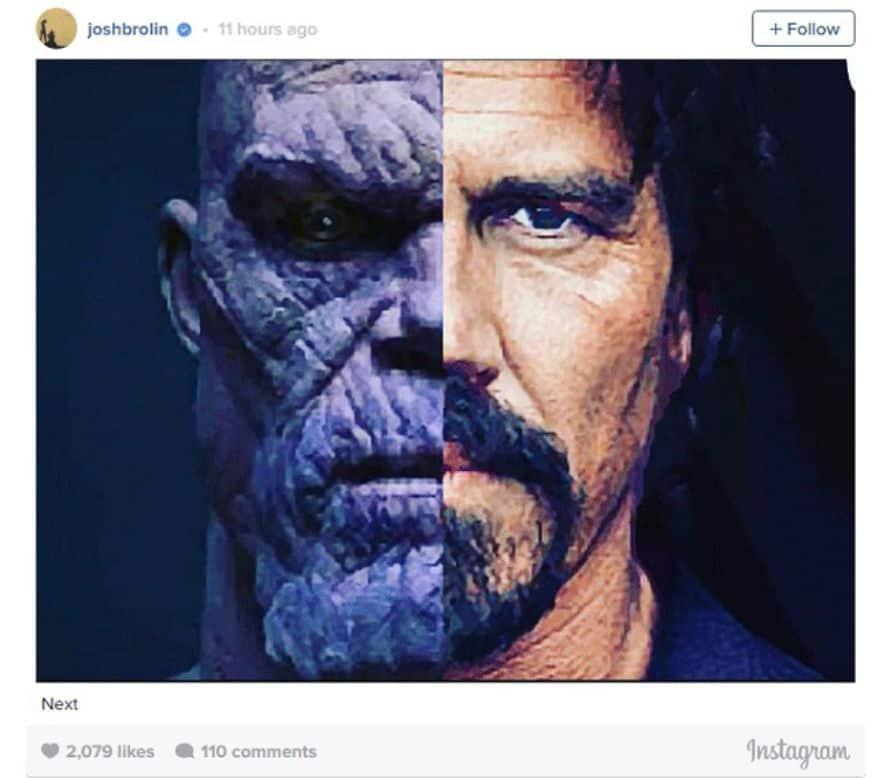 Josh Brolin Thanos Tease