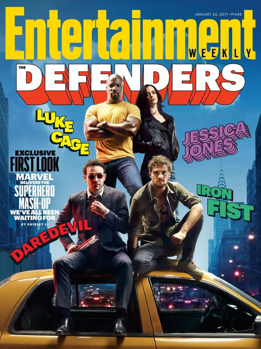 Marvel The Defenders EW Cover
