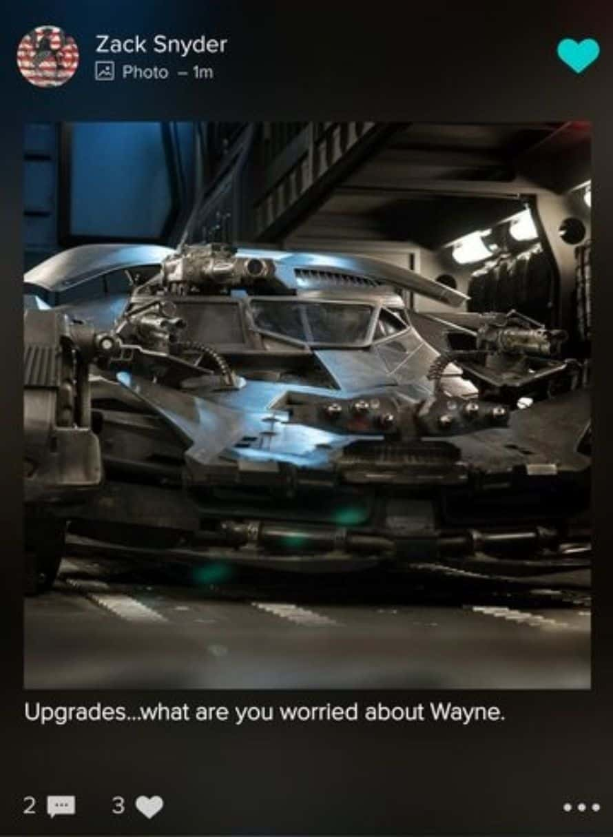 Justice League Zack Snyder Upgraded Batmobile