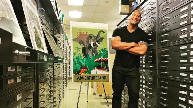 Dwayne Johnson Preps For Jungle Cruise By Visiting The Disney