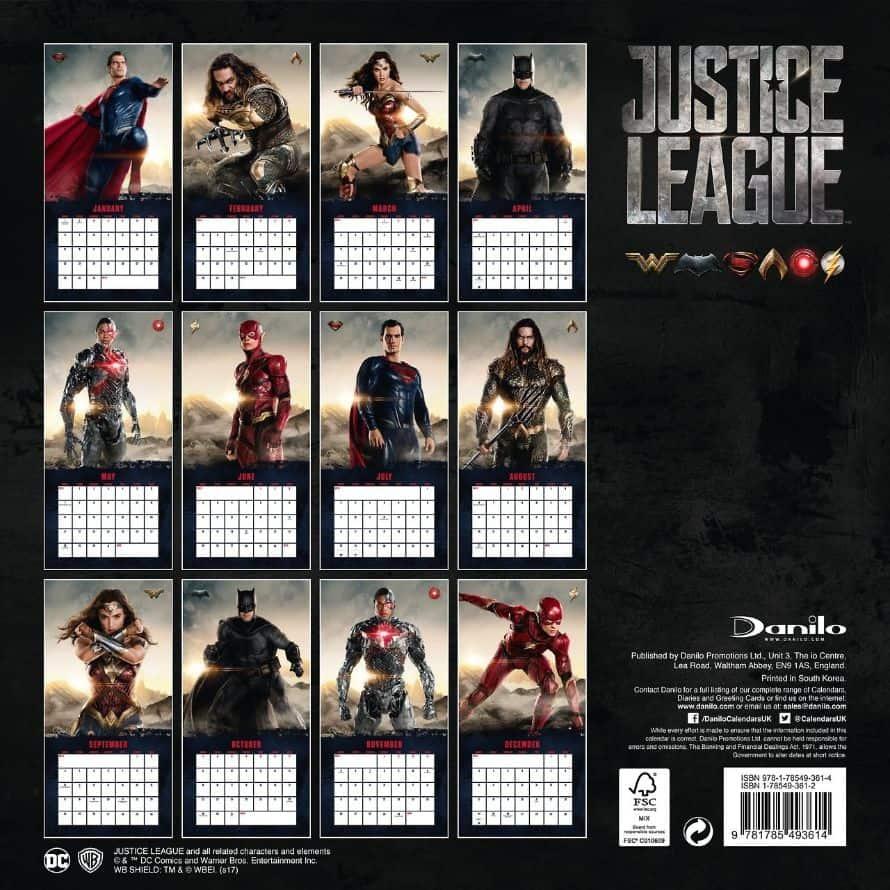 Justice League Calendar Image