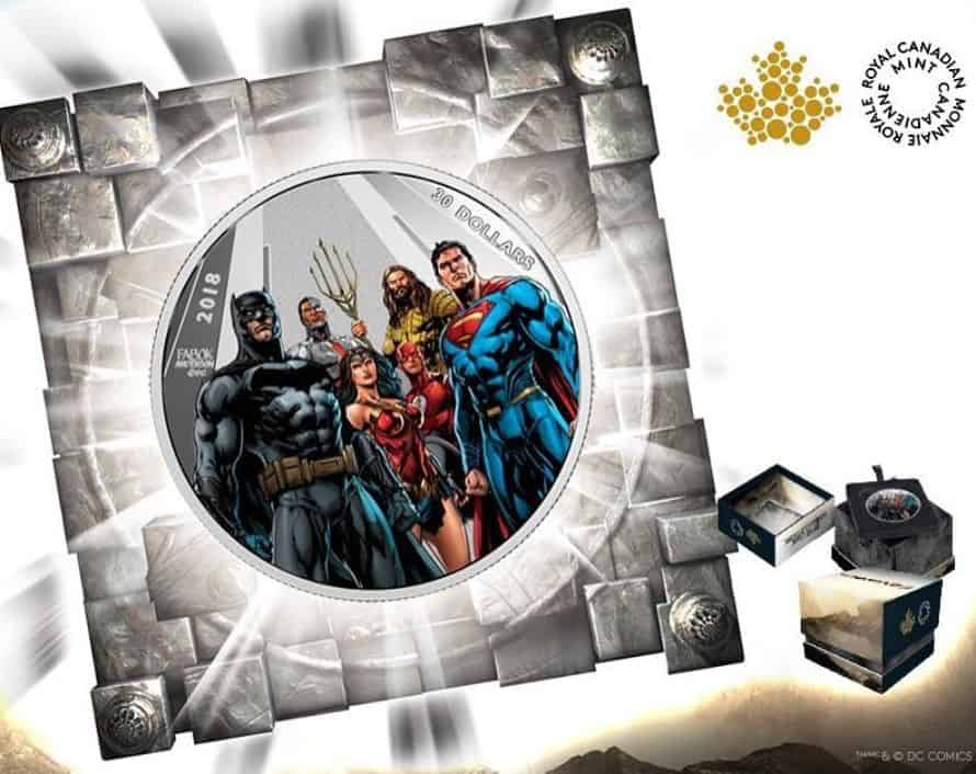 Justice League Coins Royal Canadian Mint