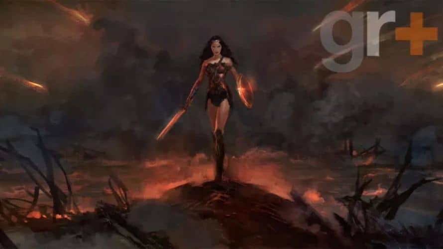 Wonder Woman Gal Gadot Concept Art No Man's Land
