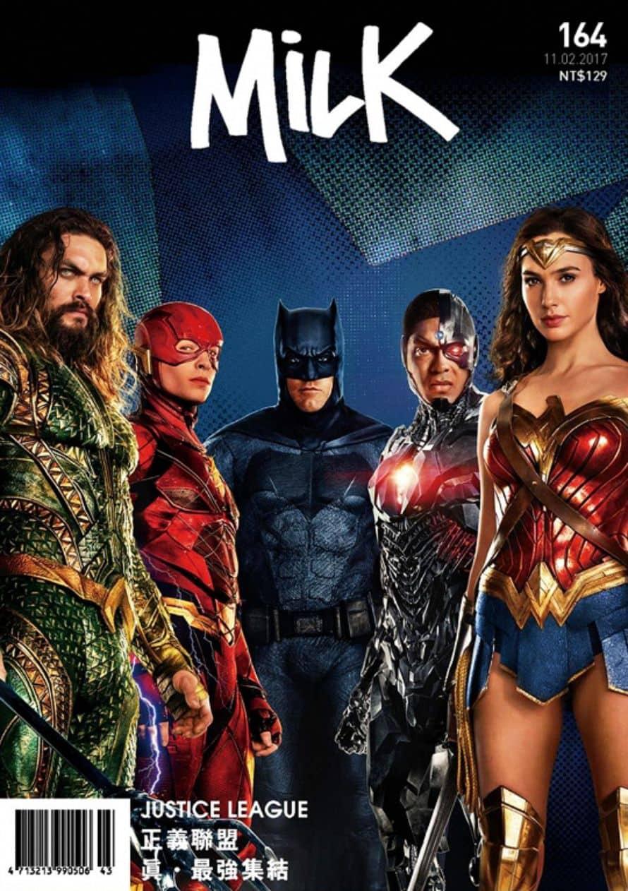 Justice League Milk Magazine Cover