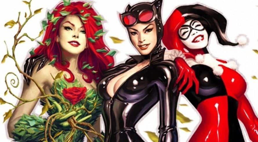 Gotham City Sirens Poison Ivy Catwoman Harley Quinn David Ayer