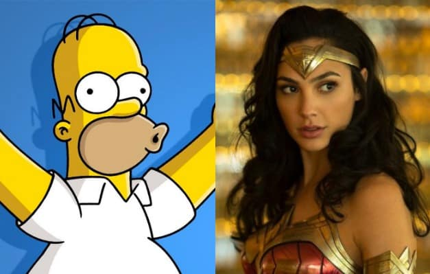 Homer Simpson Gal Gadot Wonder Woman
