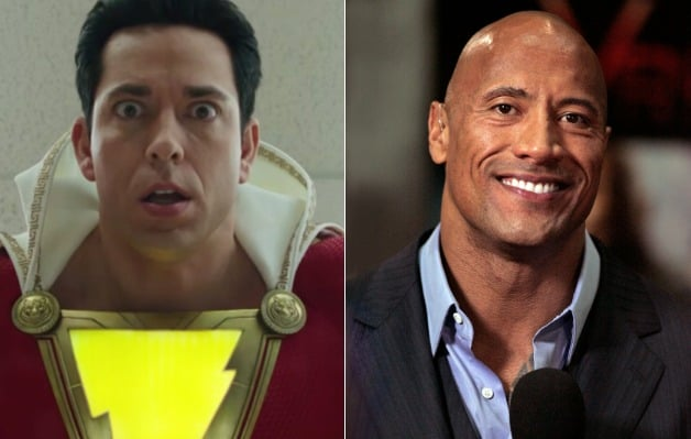 DCEU Shazam Zachary Levi Dwayne Johnson Black Adam