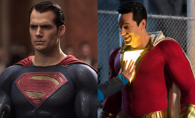 Batman Shazam Henry Cavill Superman Zachary Levi Jack Dylan Grazer