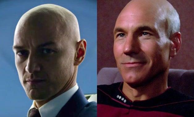 Star Trek Jean-Luc Picard James McAvoy Patrick Stewart