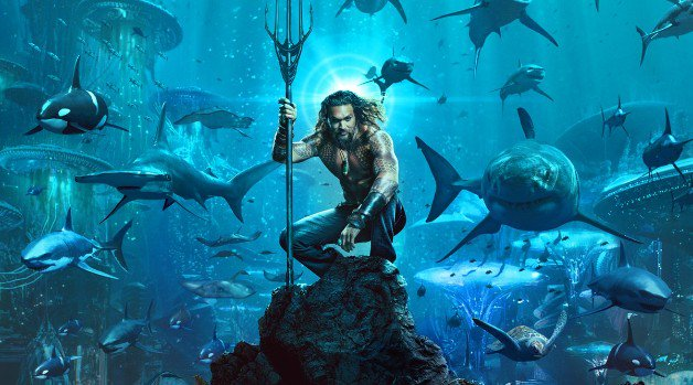 Aquaman Poster Jason Momoa Amber Heard