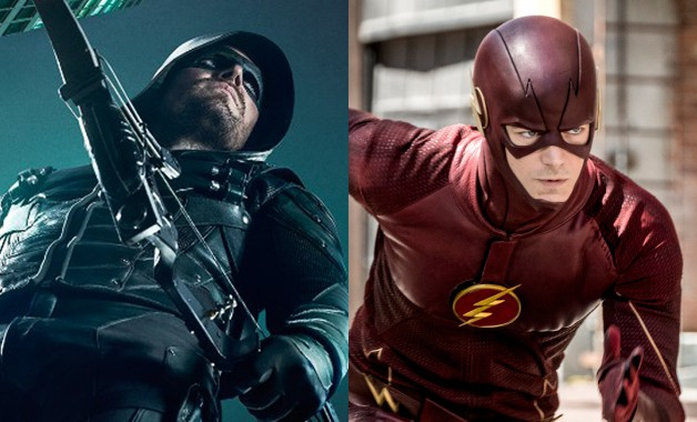 Arrowverse Stephen Amell Flash CW Elseworlds DC Comics Grant Gustin