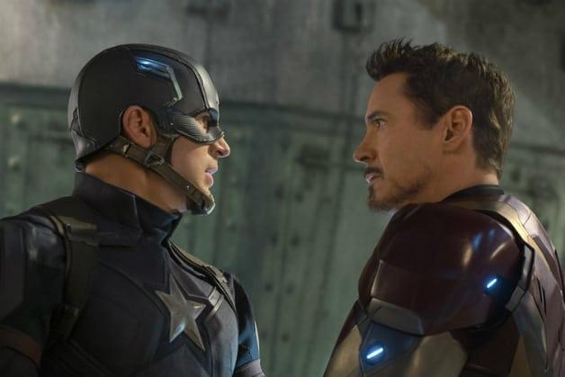 Captain America Chris Evans Robert Downey Jr