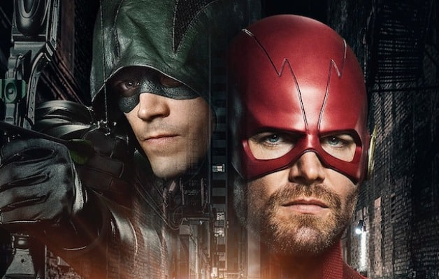 Elseworlds Grant Gustin Green Arrow Stephen Amell