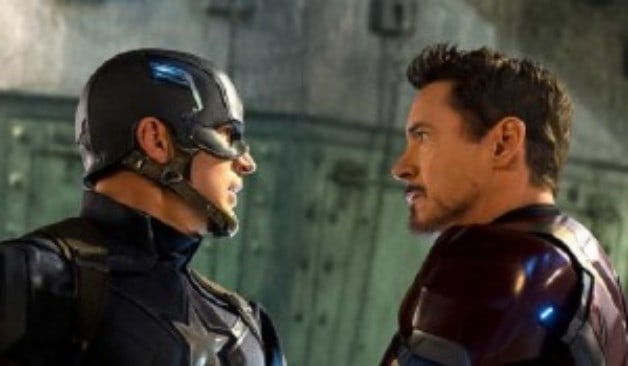 Captain America Chris Evans Robert Downey Jr.