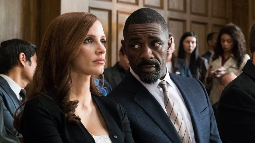 Molly's Game - Idris Elba and Jessica Chastain