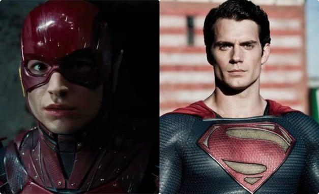 Superman The Flash Henry Cavill Ezra Miller