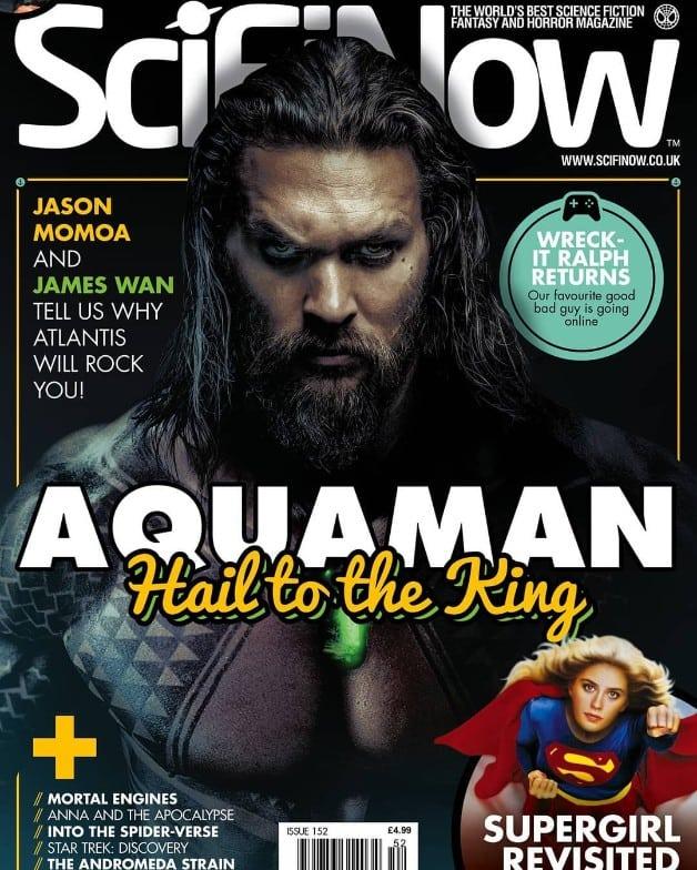Aquaman Jason Momoa SciFi Now Magazine Cover