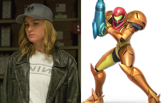 Captain Marvel Brie Larson Metroid