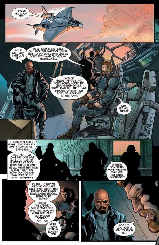 Captain Marvel Prelude Steve Rogers Nick Fury Avengers