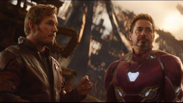 Infinity War Star Lord Chris Pratt Robert Downey Jr Marvel Studios
