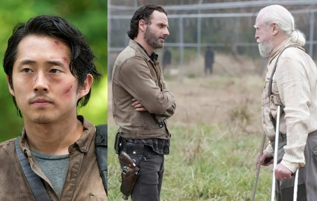 The Walking Dead Steven Yeun Andrew Lincoln Scott Wilson