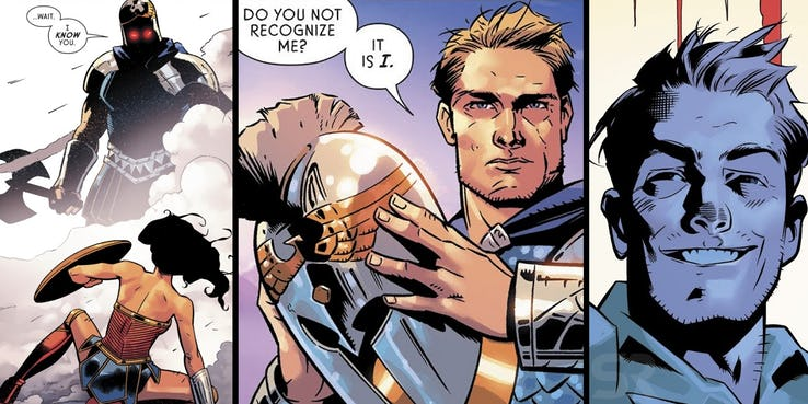Wonder Woman Ares Steve Trevor DC Comics