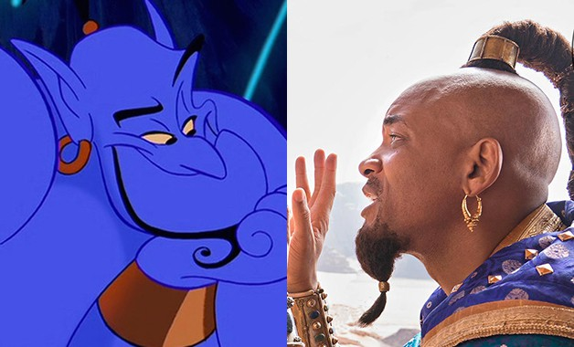 First Live-Action 'Aladdin' Remake Photos Reveal Will Smith's Genie