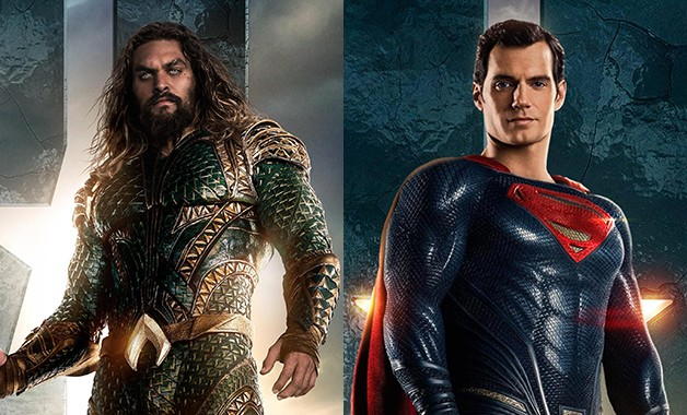 Aquaman Superman Jason Momoa Henry Cavill Justice League