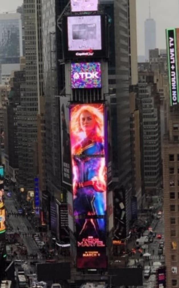 Captain Marvel Times Square