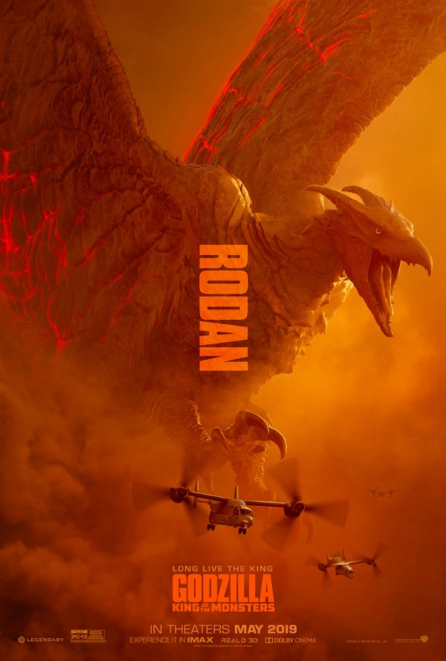 Godzilla King of the Monsters Poster 1 Rodan Mothra Ghidorah