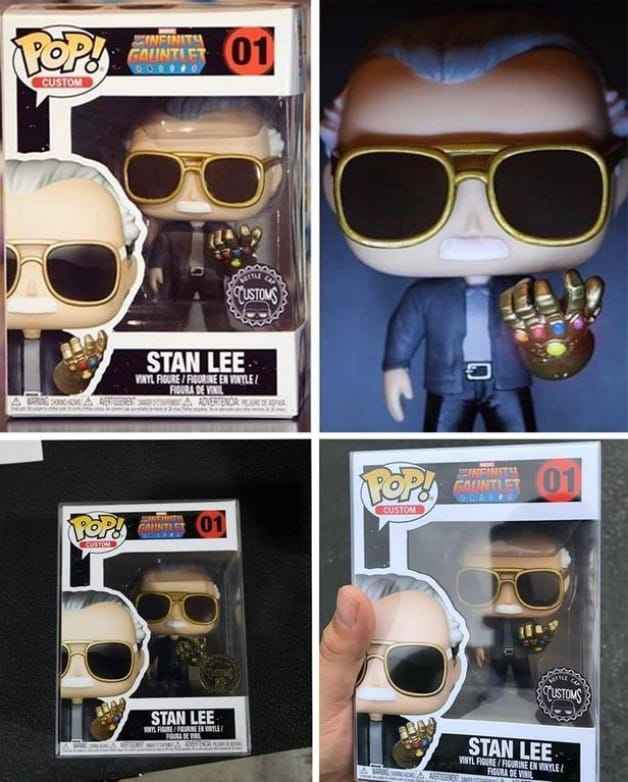 Stan Lee Custom Funko Pop Infinity Gauntlet