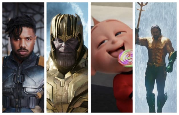 Superhero Cinema 2018 Black Panther Avengers Thanos The Incredibles Aquaman
