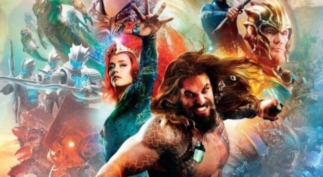 Cartaz cómico do engodo de Aquaman